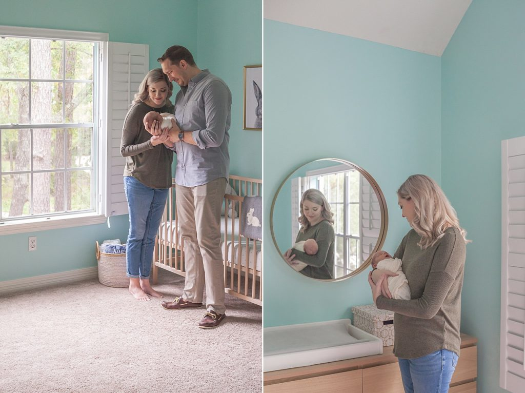 family portaits during newborn photo session by kristal bean photography