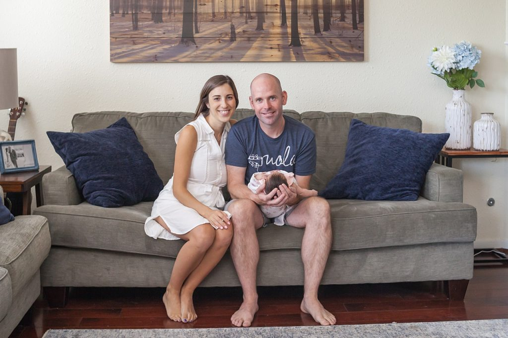 family portaits with a newborn in the woodlands texas by kristal bean