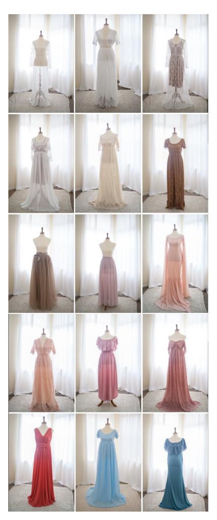 kristal bean photography client closet gowns