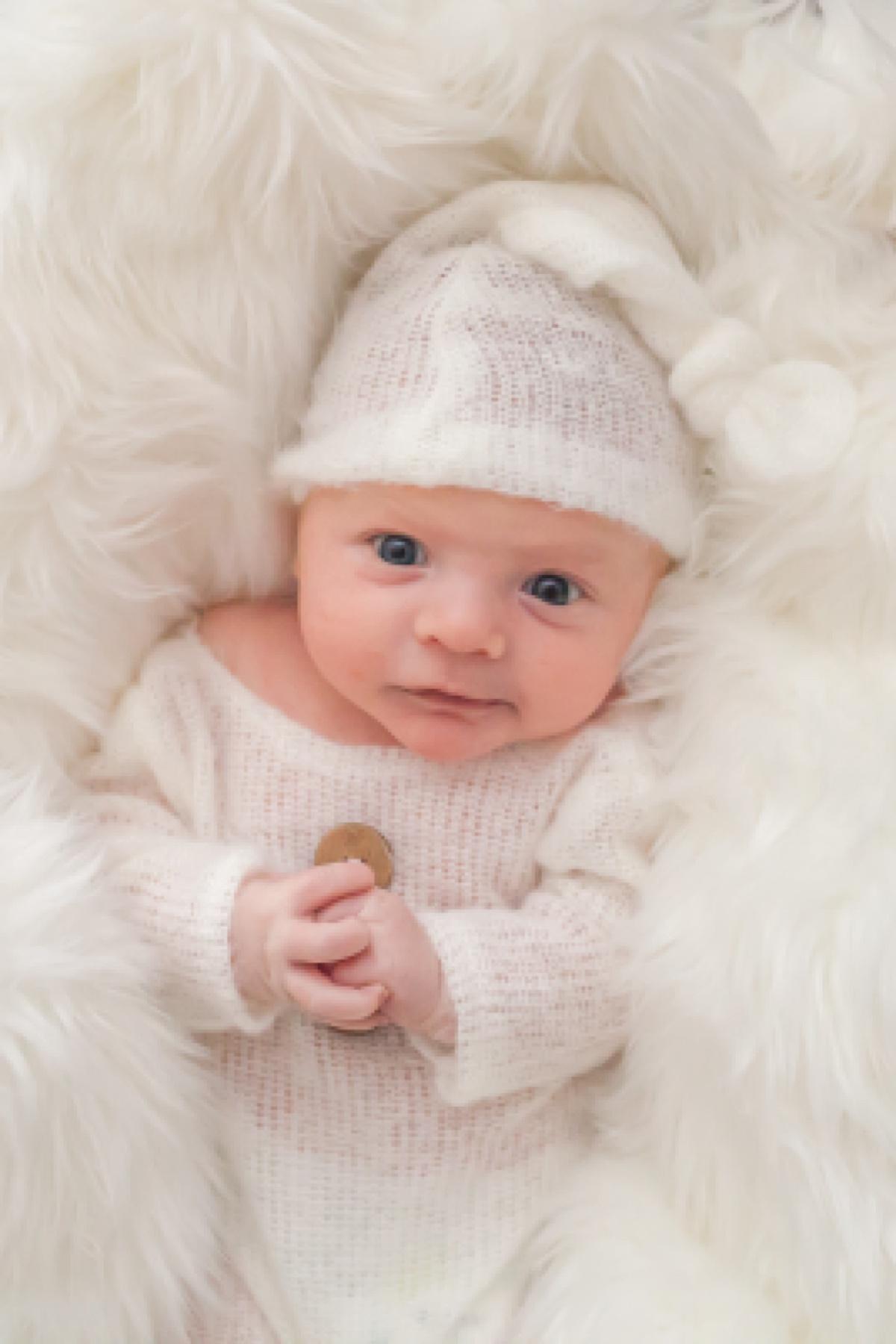 newborn baby boy by lubbock newborn photographer kristal bean
