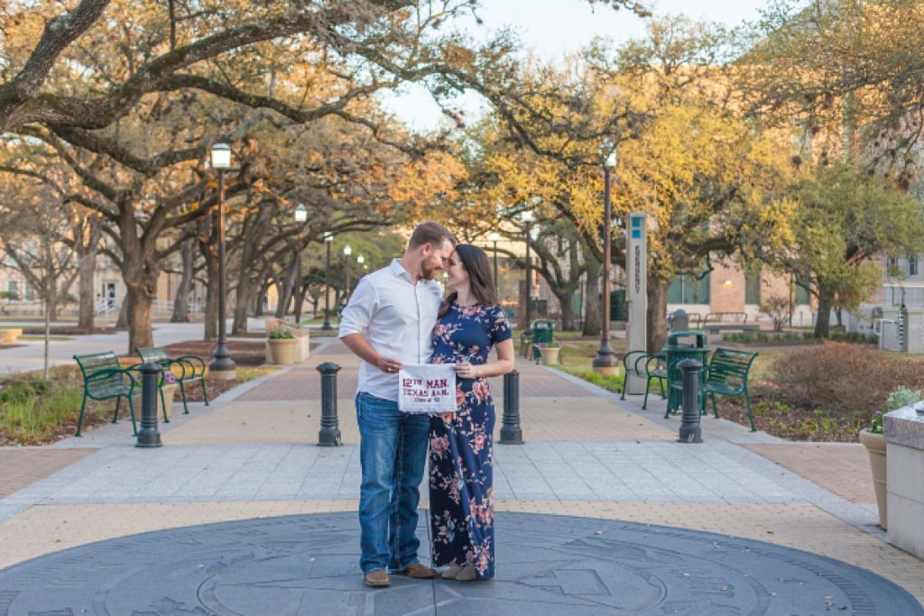 sunset maternity portraits at texas a&m