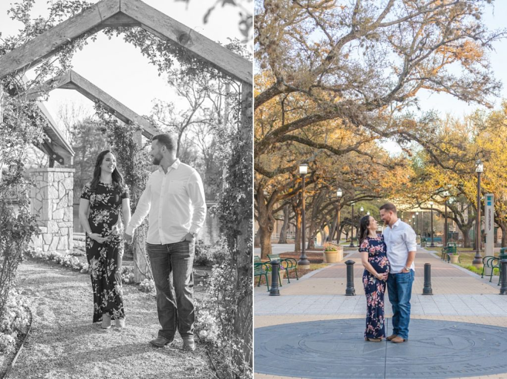 college station tx maternity photos at sunset