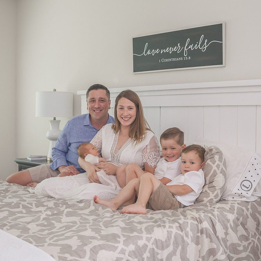 family photo session with a newborn in montgomery, tx