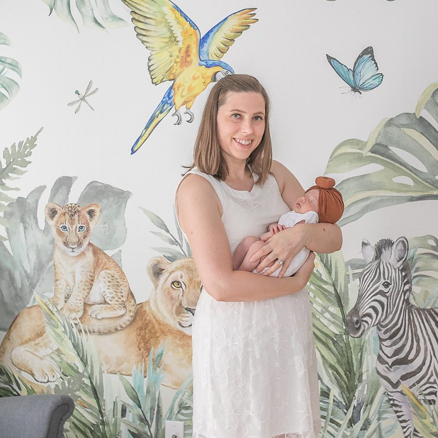 jungle-themed baby nursery in the woodlands tx by kristal bean photography